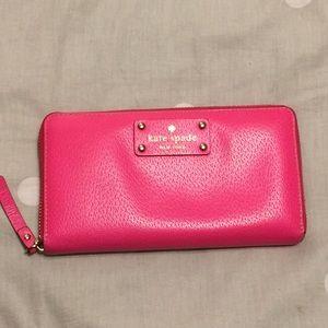 Kate Spade neon pink wallet